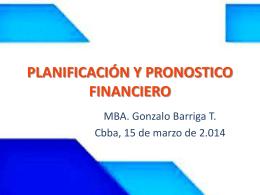 PLANIFICACIÓN Y PRONOSTICO FINANCIERO