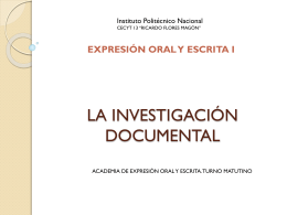 LA INVESTIGACIÓN DOCUMENTAL - Repositorio Digital