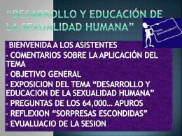 Desarrollo y Educación de la Sexualidad Humana
