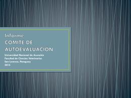 Descargar Presentación Informe de Autoevaluación 2015