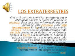 LOS EXTRATERRESTRES - los