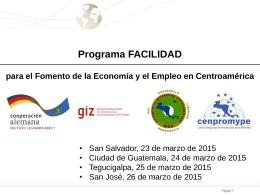 Facilidad para el Fomento de la Economía y el Empleo en