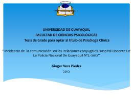 ginger vera piedra - Repositorio Digital Universidad de Guayaquil
