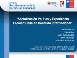 """Daniel Miranda: """"Socialización Política y Experiencia Escolar: Chile"""