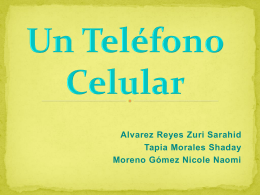 UN TELEFONO CELULAR