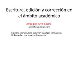 Jorge Luis Alvis - Universidad Nacional de Colombia