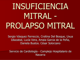 INSUFICIENCIA MITRAL PROLAPSO MITRAL