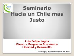 Vea la presentación de Luis Felipe Lagos