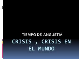 crisis , crisis en el mundo LVP