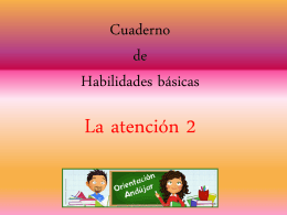 Cuaderno de Habilidades básicas atención 2