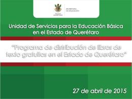 Querétaro - Comisión Nacional de Libros de Texto Gratuitos