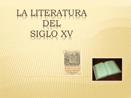 siglo XV - lenguayliteraturasoto