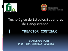 reactor continuo* Elaborado por: José Luis Huertas Navarro