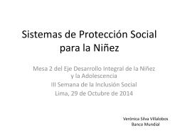 Sistemas de Protección Social para la Niñez