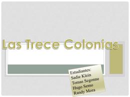Las Trece Colonias - LaPazColegio2014-2015