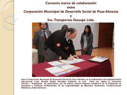 Convenio marco de colaboración entre Corporación