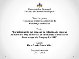 Maria Gisella Garcia Velez - Defensa
