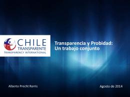 Transparencia y Probidad: Mejorando la calidad institucional