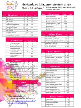 Lista de Arriendos - San Antonio