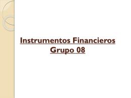 Instrumentos Financieros GT19 Equipo 8