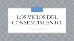 Los vicios del consentimiento.