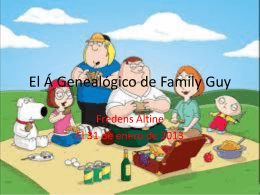 El Á Genealógico de Family Guy