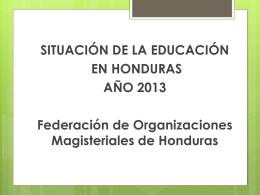 Presentación de FOMH/Honduras