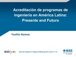 Acreditación de programas de ingeniería en Latino America