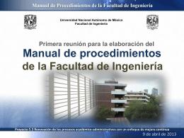 Presentación de la primera sesión - Facultad de Ingeniería