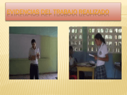 evidencias del trabajo realizado - Red de Educadores de Lenguaje