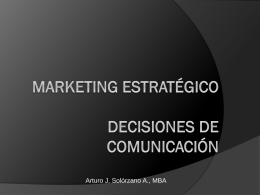 Decisiones de Comunicación - Marketing-Estrategico