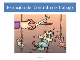 Extinción contrato trabajo