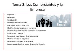 Derecho Mercantil 1 Tema 2 - Prof. Pablo Emilio Hurtado