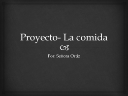 Proyecto- La comida
