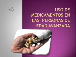 uso de medicamentos en las personas de edad avanzada