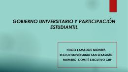 GOBIERNO UNIVERSITARIO Y PARTICIPACIÓN