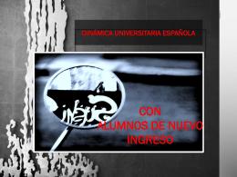Presentación Dinámica Universitaria Española con alumnos de
