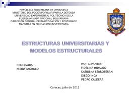Estructuras Universitarias - EducacionsuperiorenVenezuela