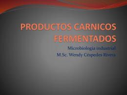 PRODUCTOS CARNICOS FERMENTADOS