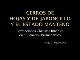 Jorge Marcos - proyecto arqueológico Hojas