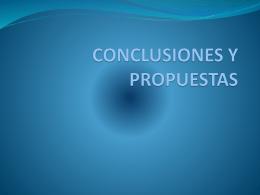 conclusiones y propuestas m.a. urbina