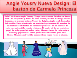 Angie Yousry Nueva Design : El Baston de Caremelo Princesa