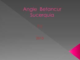 Angie Betancur Sucerquia