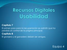 Recursos Digitales Usabilidad