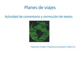 """Planes de viaje""."