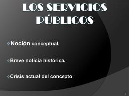 Los servicios públicos - UAIDerechoAdministrativo