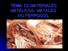 Metales no ferrosos pesados