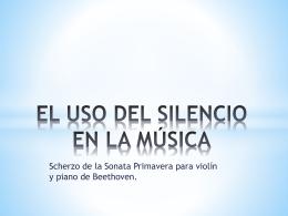 Scherzo Sonata Primavera nº 5 de Beethoven