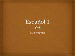 Español 1 - mssalswikipage