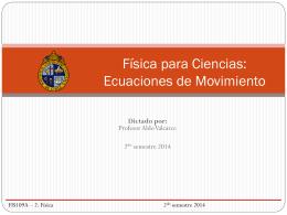 Clase 4: Ecuaciones de Movimiento